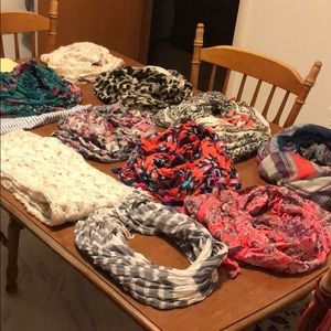 Lot of scarves